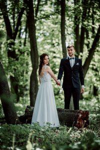 Młodzi piękni Andrzej i Marta