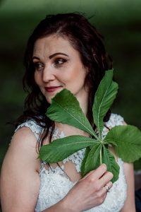 Marta z liściem kasztanu